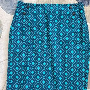 Patterned Turquoise Skirt